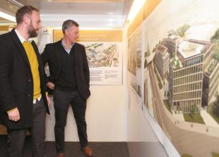 Plans for new offices and residential area displayed at public exhibition